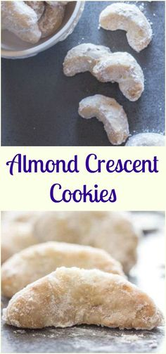Almond Crescent Cookies, almond, pecan or walnut these melt in your mouth Christmas Cookie Recipe are a must make. Delicious.