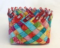 Fabric basket made with scraps! Full instructions :)