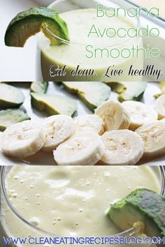 Clean eating recipe: avocado loves banana smoothie | #cleaneating #healthyrecipe