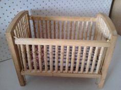 Miniature cot  crib Dolls house nursery in by SmallthingsbyAmanda