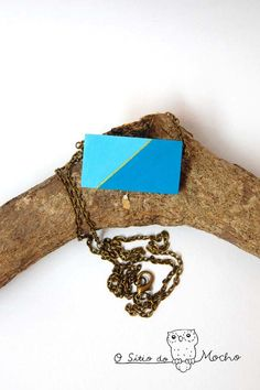 Geometric necklace. Handmade.