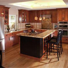 Cherry Kitchen Cabinets Renovation Ideas on fireplace renovation ideas, bathrooms renovation ideas, white kitchen renovation ideas,