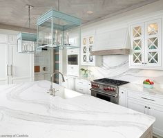 Check out these Gorgeous Cambria Brittannicca Quartz Kitchen Countertops! Click the Picture to View our Cambria Quartz Inventory Quartz Countertops Colors, Cambria Countertops, Quartz Backsplash, Quartz Kitchen Countertops, Kitchen Backsplash, Kitchen Cabinets, Backsplash Ideas, Kitchen Island, White Cabinets