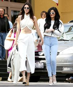 Kendall and Kylie Jenner leaving Easter Sunday service.