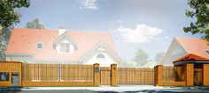 Projekt domu Uroczy 146,47 m2 - koszt budowy 254 tys. zł - EXTRADOM House Roof Design, House Outside Design, Small House Design, Facade House, House Plans Mansion, My House Plans, Luxury House Plans, Modern House Plans, Modern Bungalow Exterior