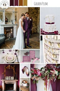 Golden Plum – Rich and Romantic Winter Wedding Inspiration
