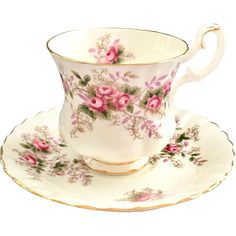 Stylish English Bone China Here is the Demitasse version of the Royal Albert Lavender Rose Bone China Cup and Saucer to match the teacup also offered in my shop. Like the teacup, sprays of beautiful pink, shading to lavender, China Cups And Saucers, China Tea Cups, Teapots And Cups, China Mugs, China Plates, Antique Dishes, Cuppa Tea, Vintage Cups, My Tea