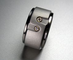 You & Me Diamond Titanium Ring by spexton on Etsy, $649.00