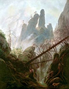 Caspar David Friedrich - Felsenschlucht