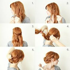 Le chignon tresse coiffure messy bun DIY