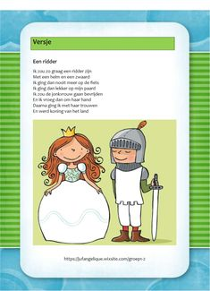 Versje: Een ridder Library Programs, Too Cool For School, King Queen, Rapunzel, Coloring Pages, Knight, Medieval, Castle, Kids