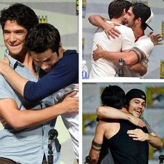 I love guys who are best friends and aren't ashamed to hug each other -NK