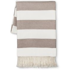 Stripe Throw Blanket Threshold ($45) ❤ liked on Polyvore featuring home, bed & bath, bedding, blankets, cotton throw blanket, stripe throw, striped bedding, cotton blankets and striped cotton blanket