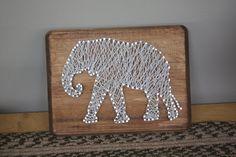 Rustic Elephant String Art by erinelysedesigns on Etsy, $30.00