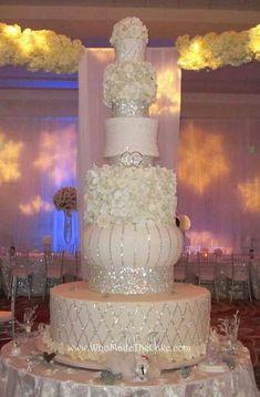 White Wedding Cakes Fabulous Bling Wedding Cakes - Houston A-List Extravagant Wedding Cakes, Tall Wedding Cakes, Bling Wedding Cakes, Bling Cakes, Elegant Wedding Cakes, Beautiful Wedding Cakes, Gorgeous Cakes, Wedding Cake Designs, Fancy Cakes
