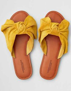 AEO Oversized Bow Slide Sandal