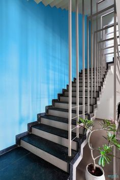 Large Fenestrations Bringing Out The Beauty Of This Residence | Manoj Patel Design Studio - The Architects Diary Clay Roof Tiles, Large Beds, Tiles Texture, Color Tile, Large Windows, White Walls, Ground Floor, Shades Of Blue, Architects