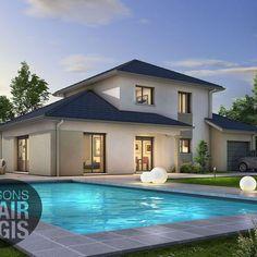 Modèle de maison SEMNOZ - . Retrouvez tous les types de maison à vendre en France sur Faire Construire Sa Maison