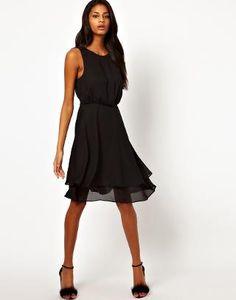 ASOS | ASOS Skater Dress With Double Skirt at ASOS