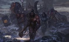 we will be conquerors by chenbo | World of Warcraft | Fan Art / Wallpaper / Games | Fantasy Characters Orcs | http://blog.sina.com.cn/chenbowow