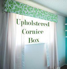 DIY Easy upholstered cornice box