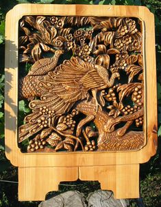 WoodcarvingThe Fire Bird by WoodAlive on Etsy, $370.00