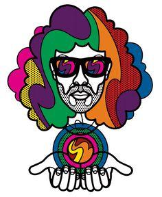 Acid Messiah by Craig & Karl Art And Illustration, Craig And Karl, Abstract Face Art, Yarn Painting, Arte Pop, Psychedelic Art, Medium Art, Pop Fashion, Illustrators