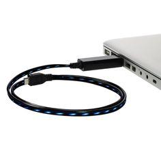 Leuchtendes Ladekabel -,   http://viral-total.de/leuchtendes-ladekabel/    Foto: Leuchtendes Ladekabel  12,95 EUR  Jetzt bestellen   Beschreibung von Leuchtendes Ladekabel Dieses Ladekabel visualisiert den Ladevorgang mit sich bewegendem blauen Licht, als würde der Strom fließen. Zum Anschluss an PC oder Laptop oder Netzteil mit USB. In zwei Varianten e...
