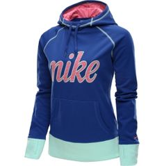Don't forfeit to cold weather. The Nike® Women's All Time Impact Hoodie covers you with insulated warmth and unmatched style. Therma-FIT® fabric with a brushed interior feels super soft against your skin and helps block out cold temperatures. Ribbed cuffs and thumbholes provide coverage that stays in place along with warmth for your hands. Complete with a lined hood, you'll be able to brave the outdoors in this Nike® pullover hoodie.
