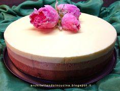architettando in cucina: Bavarese ai 3 cioccolati di Luca Montersino con le rose brinate