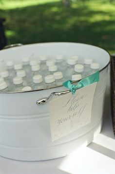 Great idea for wedding ceremonies outside
