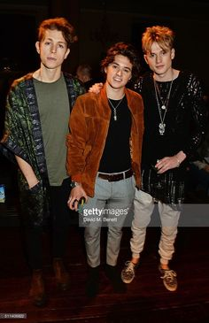 Just Jared Jnr reports, The Vamps surround Ella Eyre in a group pic during the Julien Macdonald show during London Fashion Week Autumn/Winter held at One Mayfair on Saturday morning (February . The Vamps Members, The Vamps 2016, Vamps Band, Bradley The Vamps, Ella Eyre, Brad Simpson, New Hope Club, Julien Macdonald, Bad Boys