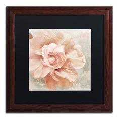 Trademark Art 'Petals Impasto I' by Color Bakery Framed Painting Print