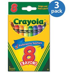 Crayola 8 Count Classic Color Crayons, 3 Pack