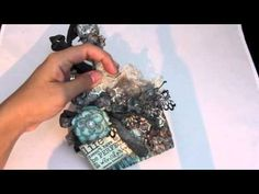 ▶ Altered paint brush. Verve Stamps DT project. - YouTube