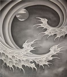 Horiyoshi III | Moon and Wave (2016) | Available for Sale | Artsy