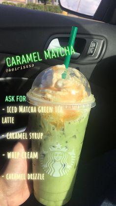 🤩🤩this really smack Drinks Starbucks Iced matcha green tea latte Bebidas Do Starbucks, Starbucks Hacks, Healthy Starbucks Drinks, Starbucks Frappuccino, Starbucks Green Tea Drinks, Healthy Drinks, Coffee Drinks, Starbucks Secret Menu Drinks, Special Starbucks Drinks