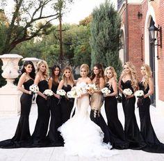 Realbride In Inbal Dror Rene Zadori Photo Black Bridesmaids Long Bridesmaid Dresses Wedding