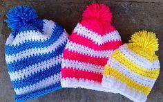 Crochet ski/winter hat--many sizes