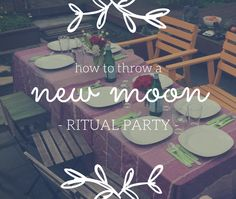 8 steps to throw a New Moon Ritual party. Spell kits, ritual kits, and friends give more power to your new moon ritual! A perfect activity for a girls night in. xoxo, blessings and light.