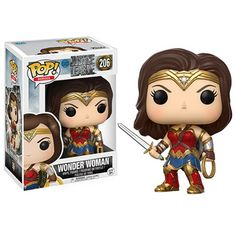 Justice League Movie Wonder Woman Pop! Vinyl Figure - Funko - Justice League - Pop! Vinyl Figures at Entertainment Earth