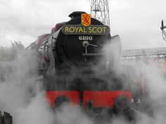 6100 Royal Scot in a mist of steam