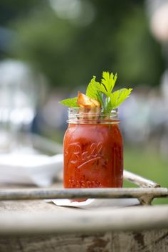 Blackberry Farm's garden-fresh Bloody Mary served with Benton's bacon (Photo: Brennan Wesley)
