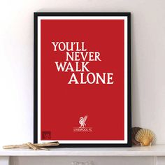 Liverpool print poster, Football typography art print poster, Soccer poster, wall decor, home decor A3