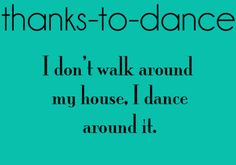 I do this, all the time.♥ Wonderful! www.thewonderfulworldofdance.com