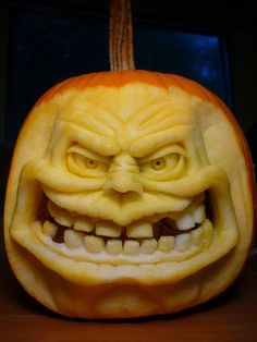 Today I am unleashing before you best cool, creative & scary Halloween pumpkin carving designs & ideas of 3d Pumpkin Carving, Awesome Pumpkin Carvings, Food Carving, Pumpkin Stencil, Pumpkin Art, Pumpkin Faces, Pumpkin Ideas, Dog Pumpkin, Scary Halloween Pumpkins