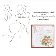Pink Ribbon Embroidery Pattern for the Breast Cancer campaign