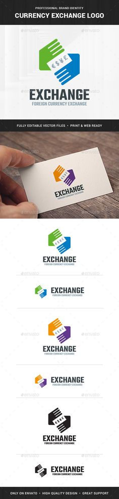 Currency Exchange Logo Template - Symbols #Logo Templates Download here: https://graphicriver.net/item/currency-exchange-logo-template/20067981?ref=alena994