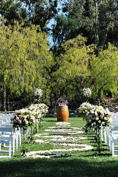 wedding ceremony winery theme barrel!!!