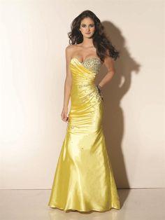 Modelos de Vestidos de Fiesta largos de color Amarillo